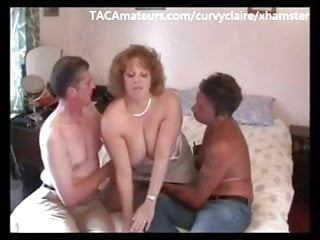 Gay 3some sex - Big tit 3some