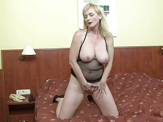 Cock mature milf riding Hot mature milf mom rides a big fat black cock bbc anal