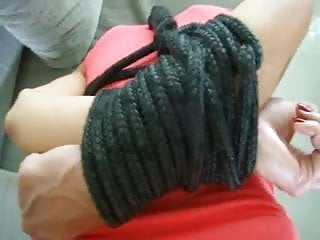 Women tied back to back bondage - Hands tied behind back fucked