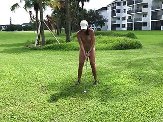 Girls flashing tits on golf course My wife plays golf 3 - public course