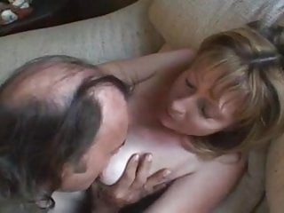 Orgasm feeling Mom calls the neighbor when she feels alone