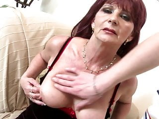 Fucking an old grandma Old grandma slut suck and fuck big young cock