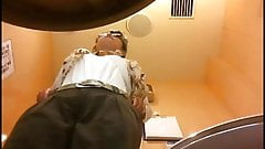 restroom smile masturbtion hidden cam