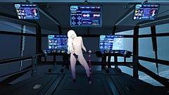 Sci-Fi - Sporty masturbation on spaceship. Variant 1.