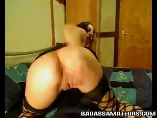 Shaved legs on guys Amateur with long legs in sexy black stockings shaved pussy