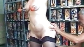 My Sexy Piercings Mature granny slave with heavy pierced