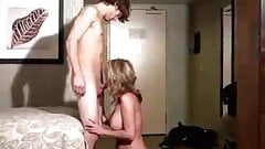 a young guy fucks a hot milf very well