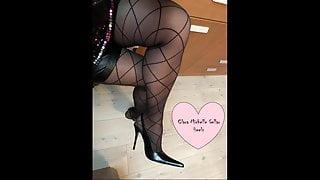 Pointed heels fantasy stockings