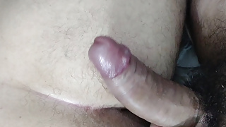 Fucking bareback a big ass with my huge uncurt curved cock