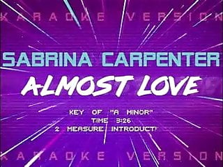 Outerspace grown ass man lyrics Sabrina carpenter almost love lyric video