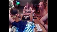 Webcam strip poker