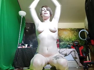 Mcfly completly nude Roxy works outworks while completly nude