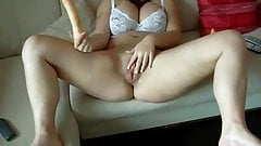 Horny BBW Teen masturbating and spreading her wet pussy