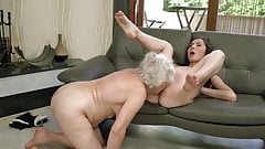 Old 84yo and young lesbian