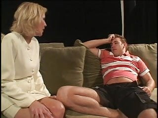 Studs with hairy chest Milf gets lucky with a young stud
