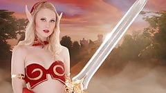 Fucking a Beautiful Blood Elf in a VR Video Game