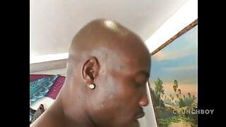 61 amazing Ebony bitch fucked bareback by huge black