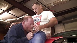 Mr Mechanic at a garage