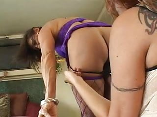 Living room sex vids Slutty mature broads ram toys in pussies in living room