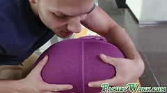 Naughty blonde Lyra Law doggystyle fucked by stepbrother