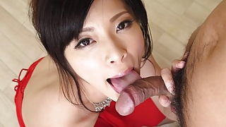 Japanese beauty Sara Yurikawa licks dick uncensored