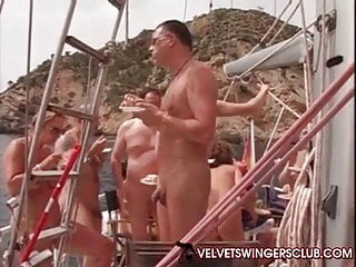 Boat hardcore Velvet swinger club boat trip gangbang and orgy