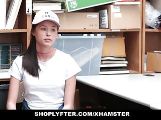 Getting teens to move out - Shoplyfter - teen fucks cop to get out of trouble