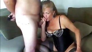 Mature couple having fun on cam