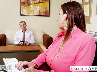 Fucked in the office videos - Brunette milf sara jay fucking in the office