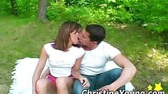 Christine Young - Joining a couple outdoors