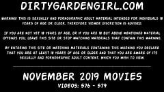 Dirtygardengirl NOVEMBER 2019 NEWS: huge prolapse, fisting