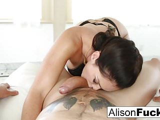 Hot sexy blow jobs Alison tyler gives a sexy blow job with titty fucking