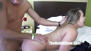 Phatt booty maria Jade in love with his big white dick