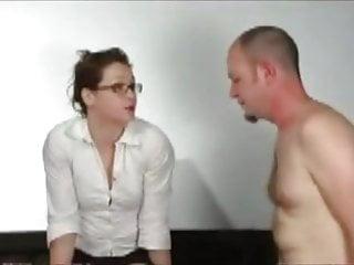 Spanked on flowered panties Man in panties punished by teacher
