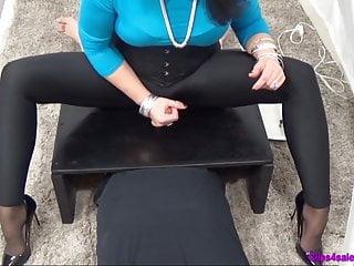 Clips4sale erotic tickling Femdom spandex mistress handjob cfnm