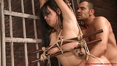 Busty Arabian girl punished.