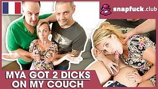 Milf Mya Lorenn enjoys a French threesome! Snap-Fuck.com