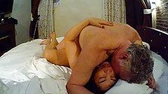 Thai Mature BBW Slut fucking Old British Bull