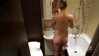 Czech Hidden spy cam in shower