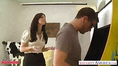Stockinged mom India Summer gets fucked and facialized - Re