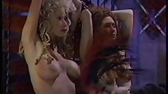 Two sexy damsels in studs bondage dungeon