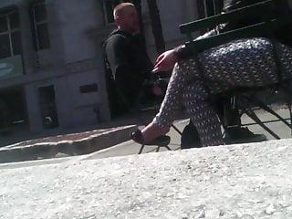 Outside fetish - Outside shoeplay