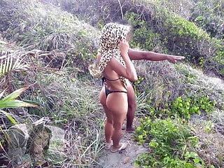 Brazil bikini butts - Anal in desert beach, brazil