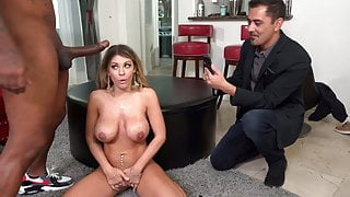 Kayla Kayden Has Threesome With BBCs In Front Of Her Hubby