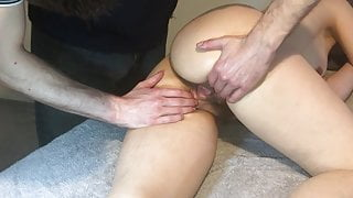 Really hairy pussy getting massaged