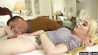 Busty ts stepdaughter Gracie Jane sucks n anal fucks stepdad
