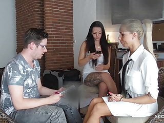 Caught footjob - Girlfriend caught bf get footjob cheating by german broker
