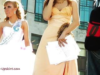 Mature mother of the bride dresses Upskirt bride pink dress