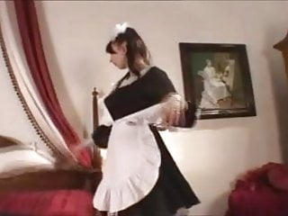 Busty eruo maids Busty french maid gets cum on her tits