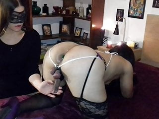 High frequency low amplitude vibrators - Sissy with tied balls gets teased and milked by girlfriend